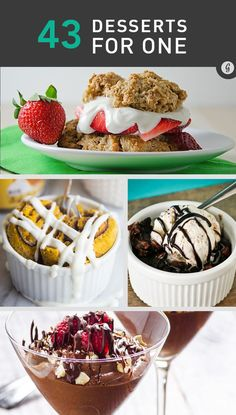 Cooking for One: 43 Ridiculously Delicious Single-Serving Dessert Recipes #dessert #recipes #chocolate