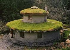 Cob + living roof  from Off the Grid