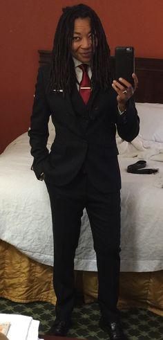 Women slay masculine fashion  Author/Writer TJ Wolfe #studlesbian #kyng #queen #buythefcknbooks #beautifulwoman Queer Fashion, Tomboy Fashion, Girl Fashion, Fashion Outfits, Androgynous Girls, Androgynous Fashion, Suits For Women, Clothes For Women, Interview Attire