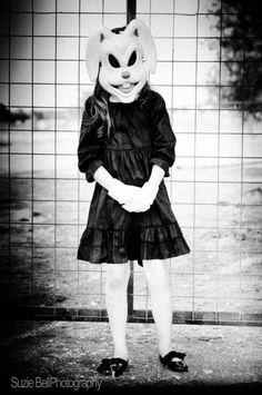 Creepy dark bunny shoot #darkbunny