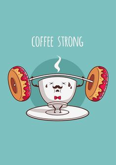 We're coffee strong! #coffeehumor #coffeelovers