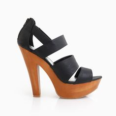 Strappy Wooden Platform Heels, back in the day when I could wear heels