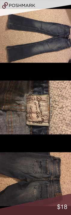 American rag jeans American rag jeans barely worn size 3s. In excellent condition! American Rag Jeans Straight Leg