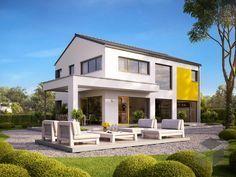 Vitalis 155 von Büdenbender Hausbau ➤ Alle Häuser unter: https://www.fertighaus.de/haeuser/suche/ Fertighaus, Einfamilienhaus, Fertigteilhaus, Eigenheim, Fertigbau
