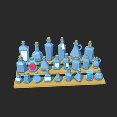 kyleyoungblom: Bottle models! Ready to filled with potions and fairies!