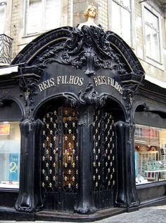 art nouveau doorway in Porto ~ Portugal Art Nouveau Architecture, Amazing Architecture, Architecture Details, Gothic Architecture, Ancient Architecture, Grand Entrance, Entrance Doors, Doorway, Cool Doors