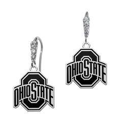 Ohio State Buckeyes CZ Logo Earrings #ohio #state #buckeyes #university #college #jewelry