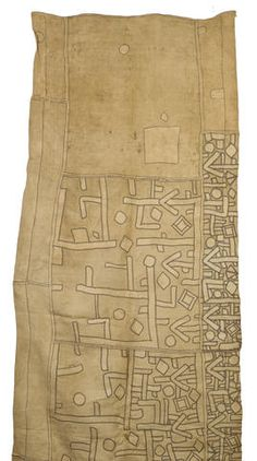 Africa | Kuba people, DR of Congo | A Ceremonial appliqued dance skirt | Raffia
