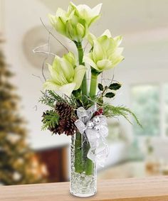 Milwaukee Florist - Same-day Flower Delivery Milwaukee - Welke's Florist Christmas Flower Arrangements, Christmas Flowers, Christmas Decorations, Holiday Decor, Christmas Time, Online Florist, Local Florist, Poinsettia Plant, Amaryllis