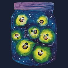 Jar Of Fireflies t-shirt by positiver on RedBubble