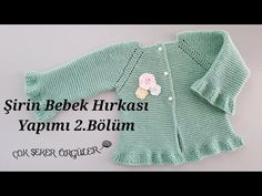 How to make a cute baby cardigan part 1 - Hakeln Crochet Beard, Crochet Baby Cardigan, Pull Bebe, Baby Barn, Baby Pullover, Baby Vest, Baby Boutique, Baby Sweaters, Crochet For Kids