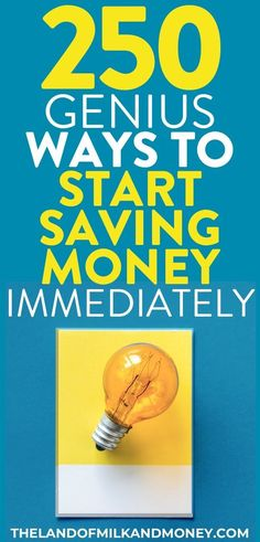 These 250 money saving tips are incredible! Having so many ideas for how to save money fast in one place is great. I'm definitely going to be saving money weekly and monthly with these Save Money On Groceries, Ways To Save Money, Money Tips, Money Plan, Saving Money Weekly, Money Saving Tips, Time Saving, Managing Money, Saving Ideas