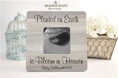 Infant Loss gift Miscarriage Baby Memorial by BrandonScottAD Ultrasound Frame, Ultrasound Pictures, Miscarriage Quotes, Early Pregnancy Signs, Personalized Picture Frames, Baby Memories, Infant Loss, Sympathy Gifts, Brandon Scott