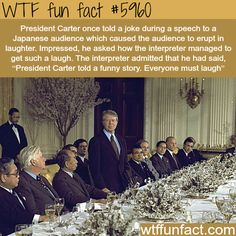 WTF Facts - Funny, interesting, and weird facts : President Jimmy Carter - WTF fun facts Wtf Fun Facts, True Facts, Funny Facts, Funny Jokes, Random Facts, Hilarious, Funny Gifs, President Facts, Jimmy Carter