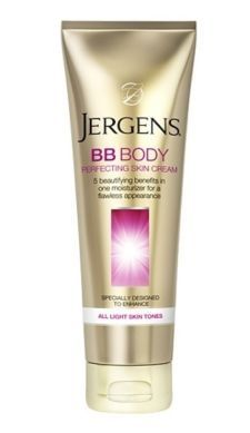 jergens bb body perfecting skin cream...gives your skin a glow and brightens your skin tone. Very moisturizing. Yepp it's great!