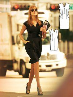 Little Black Dress with V-Neck Front & Back
