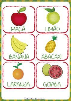 Bingo, Fun Learning, Teaching Kids, Portuguese Lessons, Chef Recipes, Food Plating, Yoshi, Banana, Activities