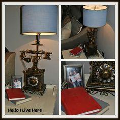 DIY Shabby Decorator Phone Lamp #ryobination