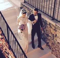 Turkish star actress Merve Boluğur looking dazzling in her #BERTA dress <3 #MerveBoluğur #mervemuratwedding