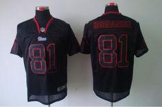 New England Patriots  81 HERNANDEZ NIKE MEN S Lights Out Black ELITE JERSEYS  Nfl New England adcf4cea6