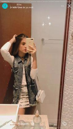 Looks Camisa Jeans, Ootd, Inspire, Women's Fashion, Denim, Random, Fitness, Girls, Jackets
