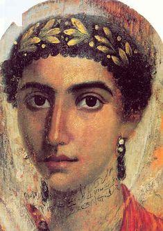 Retrato funerario de El Fayum.