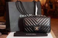 373022bdd01f Authentic CHANEL Rectangular Mini Classic Flap Bag Black Leather Gold HW -  MINT