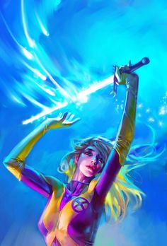 The Soulsword was created by Illyana Rasputina during the period in which she was trapped in a Limbo dimension ruled by Belasco. Illyana magically caused her own life force energy to manifest before her. Once this happened she cast her hand into the eldritch energy and drew from it the Soulsword. A simple looking blade upon its origin, it began to develop intricate designs and forms upon itself the more Illyana used it, becoming more powerful with each use. Although usable as a physical...