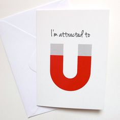 Would make a cute Valentine with a real magnet attached.
