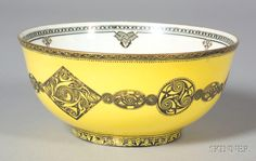 WEDGWOOD LUSTRE CELTIC ORNAMENTS BOWL, ENGLAND, C. 1920