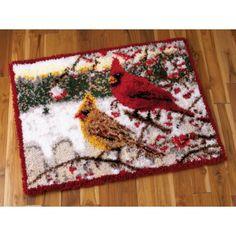 Mary Maxim - Winter Cardinals Latch Hook Rug Kit
