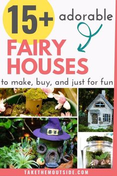 Fairy houses to make and buy for your garden and indoor gardens. Get kids involved and playing outside with these DIY fairy house crafts and ideas. srcset=
