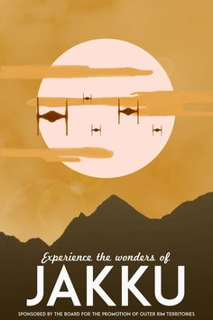 Star Wars: The Force Awakens Vintage Travel Poster [Visit Jakku] (alternative movie poster; minamalist movie poster)