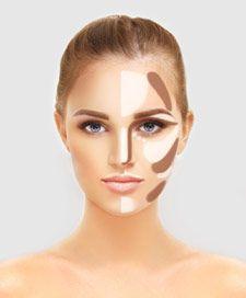 Was ist Contouring? Contouring Make up ist eine Schminktechnik zur Gestaltung der Gesichtsform oder Teilen des Gesichts.