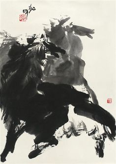 Jia Haoyi - Horse; Dimensions: 27.17 X 18.9 in (69 X 48 cm)