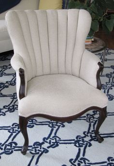 Riverside Channel Back Chair Totally by WydevenDesigns on Etsy, $490.00