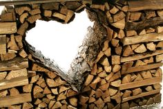 Firewood Isn& Just For Burning. Rustic Entry, Rustic Decor, Stacking Wood, Divider Design, Wood Knife, Firewood Storage, Wood Shed, Got Wood, Small Space Gardening