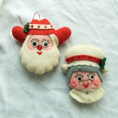 retro felt christmas ornaments