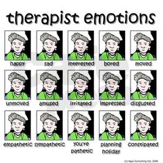 emotions Greeting Cards (Pk of therapist emotions Greeting Cards (Pk of by Therapy Humor - CafePress Psychology Jokes, Psychology Major, Forensic Psychology, Social Work Humor, Social Work Quotes, Mental Health Humor, Gestalt Therapy, Therapy Humor, Pseudo Science