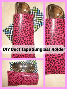 DIY Duct Tape Sunglass or Eye Glass Holder/ Duct Tape Crafts