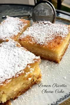 Lemon Ricotta Cheese Cake is an easy to make, delicious recipe that can be enjoyed anytime, not only on special occasions. Delicious Cake Recipes, Delicious Dishes, Yummy Cakes, Yummy Food, Romanian Recipes, Romanian Food, Pie Dessert, Dessert Recipes, Desserts