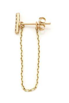 Vale Jewelry | Earring Chain  http://www.refinery29.com/decorative-earring-backs#slide3