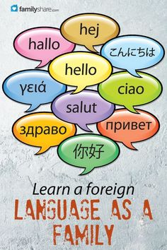 FamilyShare.com l Learn a foreign language as a family