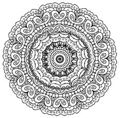 instant download coloring page hand drawn zentangle inspired psychedelic a smile mandala hippie abstract - Psychedelic Hippie Coloring Pages