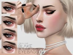 Eyebags in 10 colors, 3 placement versions. For all ages and genders. Found in TSR Category 'Sims 4 Female Skin Details' Sims Free Play, Sims 4 Cc Skin, Sims Cc, Makeup Tips, Eye Makeup, The Sims 4 Cabelos, The Sims 4 Pc, Sims 4 Cc Makeup, Queen Makeup