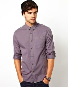 ASOS Twill Shirt in Long Sleeve