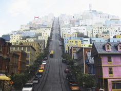 That's one steep hill in SF. San Francisco, CA