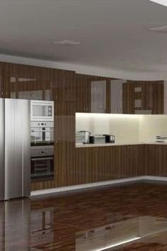 High Gloss Smoked Oak wood veneer cabinet doors.  Shop the best kitchen cabinets to renovate your home. #27estore #homedecor  #kitchen #cabinets