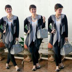 LEILA DINIZ *blog: Look do dia: preto e cinza com direito a poncho e ...