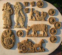 A selection of very intricate English gingerbreads - this links to the Historic Foods website with recipe and pics